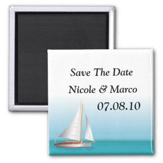 海のテーマの結婚式の保存日付 マグネット