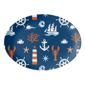 海のテーマパターン1 磁器大皿