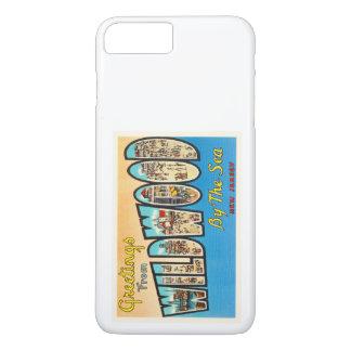 海のニュージャージーNJのヴィンテージの郵便はがきによるWildwood iPhone 8 Plus/7 Plusケース