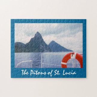 海のパズルからのセントルシアのPitons ジグソーパズル