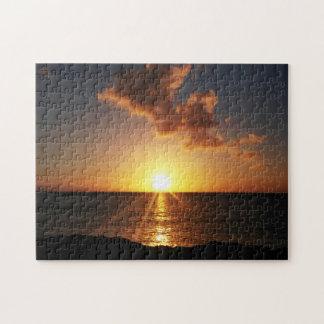 海のパズル上の日没 ジグソーパズル