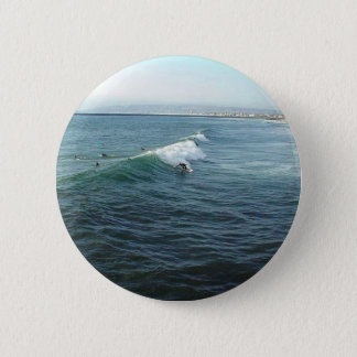 海のビーチのサーフ 缶バッジ
