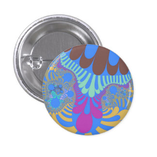 海のビーチのモダンで小さい円形ボタン 3.2CM 丸型バッジ