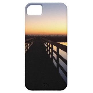 海のビーチの日の出の夜明けカリフォルニア海 iPhone SE/5/5s ケース
