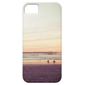 海のビーチ、カリフォルニアの日没 iPhone SE/5/5s ケース