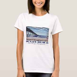 海のビーチ、サンディエゴ、カリフォルニア Tシャツ