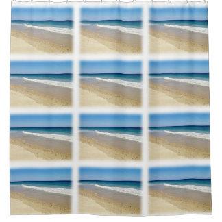 海のビーチ シャワーカーテン