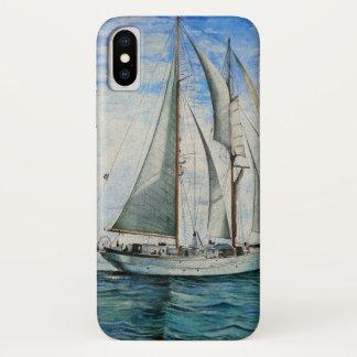 海のボート iPhone X ケース