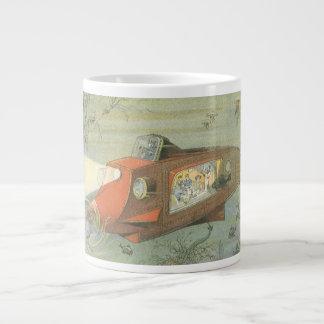 海のヴィンテージの空想科学小説のSteampunkの潜水艦 ジャンボコーヒーマグカップ