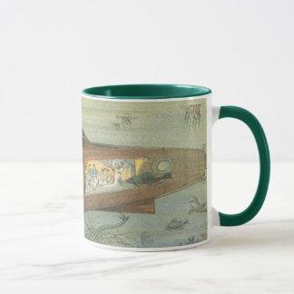 海のヴィンテージの空想科学小説のSteampunkの潜水艦 マグカップ