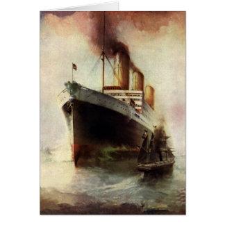 海のヴィンテージ旅行交通機関の遊航船 カード