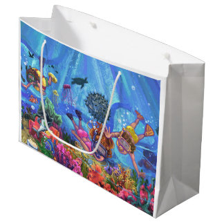 海の下 ラージペーパーバッグ