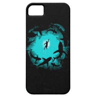 海の世界のメガ鮫の巨大なタコのiphineの場合 iPhone 5 cover