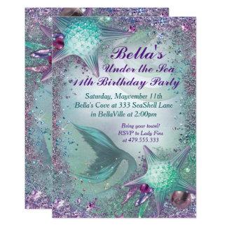 海の人魚のパーティの招待状の下 12.7 X 17.8 インビテーションカード