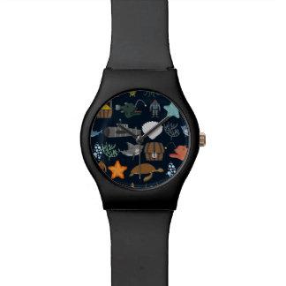 海の住民パターン1 腕時計