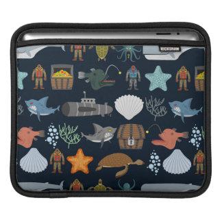 海の住民パターン1 iPadスリーブ