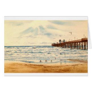海の側面桟橋 カード