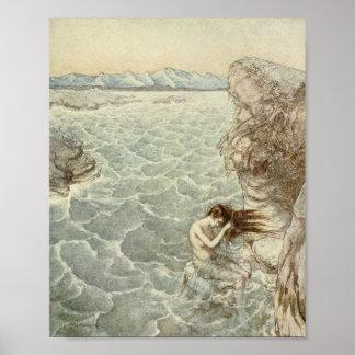 海の入江で浸ること ポスター