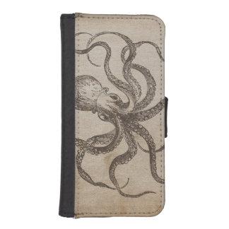 海の創造物のヴィンテージのタコの海洋生物の軟体動物 iPhoneSE/5/5sウォレットケース