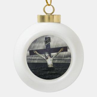 海の十字のイエス・キリスト セラミックボールオーナメント