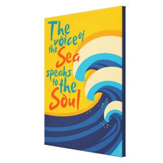 海の声は精神に伝えます キャンバスプリント