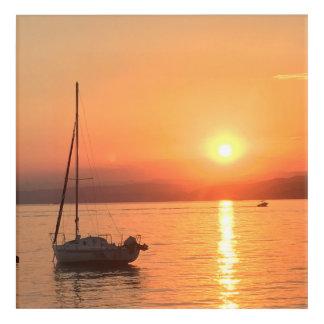 海の夏の日没 アクリルウォールアート