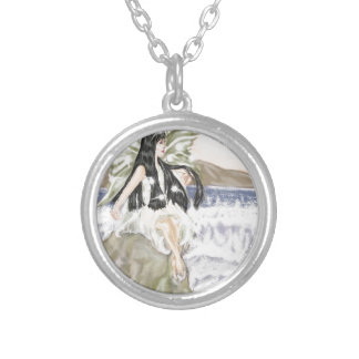 海の妖精 シルバープレートネックレス
