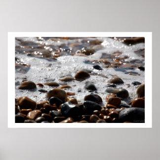 海の小石のプリント ポスター