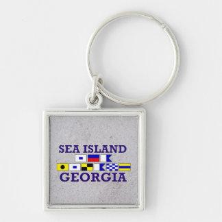 海の島、GAの航海のな旗-砂Keychain キーホルダー