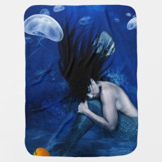 海の底で眠っている人魚 ベビー ブランケット
