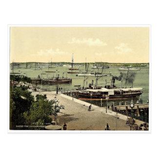 海の庭から、港、キール、Schleswig-H ポストカード