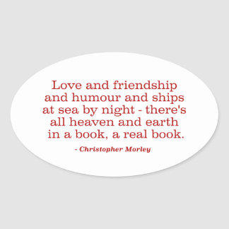 海の愛および友情およびユーモアおよび船 楕円形シール
