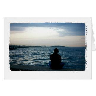 海の挨拶状によって人を配置して下さい カード