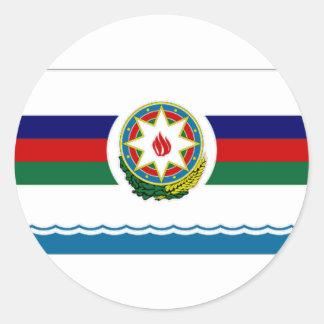 海の旗のアゼルバイジャンの大統領 ラウンドシール