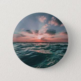 海の日没ボタン 缶バッジ