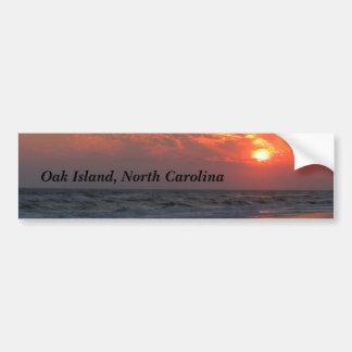 海の日没-カシの島、NC バンパーステッカー