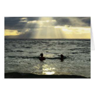 海の日没 カード