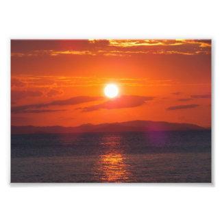 海の日没 フォトプリント