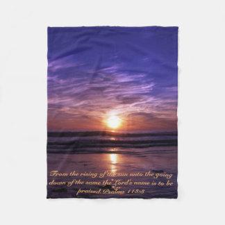 海の日没 フリースブランケット