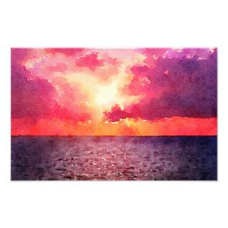 海の日没-プリント フォトプリント
