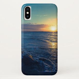 海の日没 iPhone X ケース
