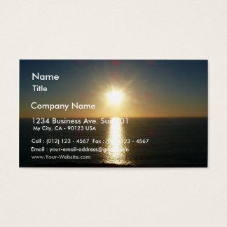 海の日没Bigbury、名前、住所1の広告… 名刺