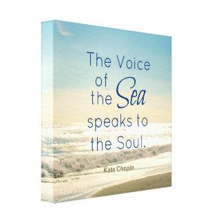 海の有名な声は精神の引用文に伝えます キャンバスプリント