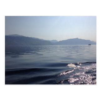 海の朝 葉書き