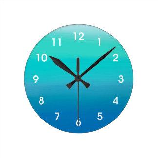 海の水彩画の柱時計 ラウンド壁時計