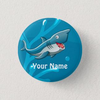 海の水生かわいい鮫のカスタムボタン 3.2CM 丸型バッジ