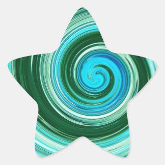 海の渦巻のステッカー 星シール