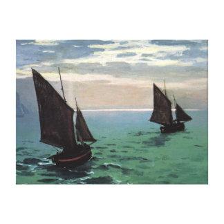 海の漁船 キャンバスプリント