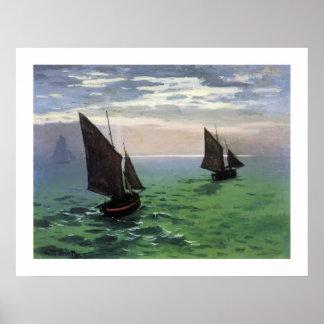 海の漁船 ポスター