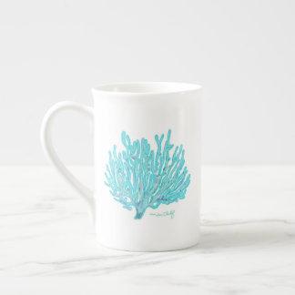 海の珊瑚のマグ ボーンチャイナカップ